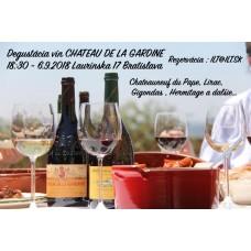 Degustácia vín CHATEAU DE LA GARDINE  6.9.2018 Laurínska 17 Bratislava